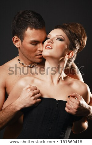 Topless Couple In Loving Foreplay Stock photo © stryjek