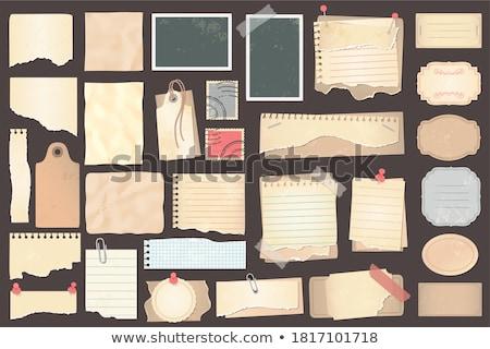 Rozdarty arkusza spinacz biuro piśmie żółty Zdjęcia stock © borysshevchuk