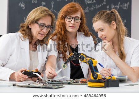 Three women in science laboratory stock photo © photography33
