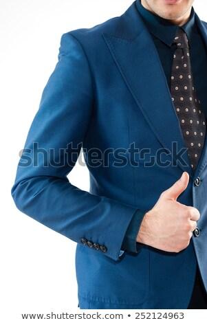 retrato · bonito · jovem · homem · de · negócios · de · volta - foto stock © dacasdo