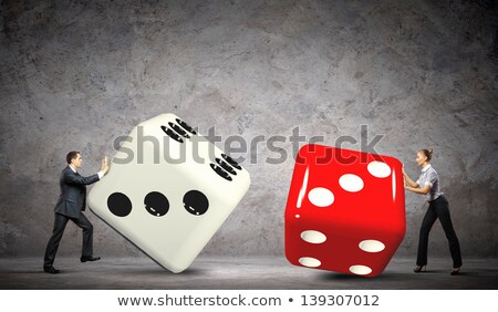 roll the dice   words on cubes stock photo © iqoncept