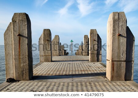 A jetty in Aberystwyth at low tide. Stock photo © latent
