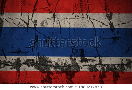 Old damaged wall painting in Thailand Stock photo © pinkblue