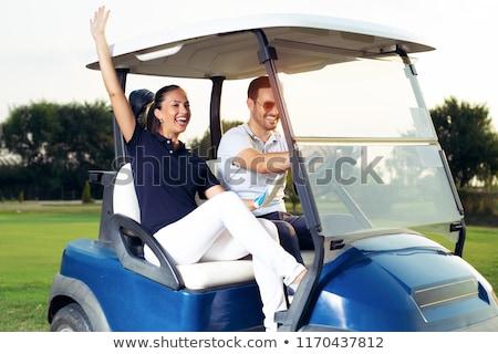 férfi · nő · pár · golf · golfpálya · mosolyog - stock fotó © photography33