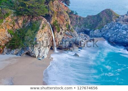 nagy · Kalifornia · part · tengerparti · autópálya · égbolt - stock fotó © saje