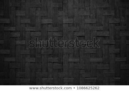 Bambusa ramki czarny odizolowany drewna Zdjęcia stock © 808isgreat