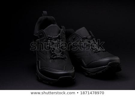 черный кроссовки классический черно белые пару рок Сток-фото © czaroot