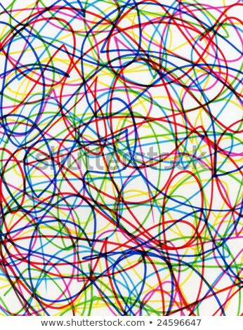 abstract colorful felt tip pen scribbles close up stock photo © latent