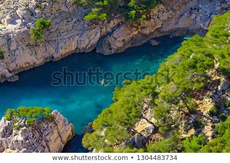 Frankrijk witte hemel schoonheid oceaan Stockfoto © timwege