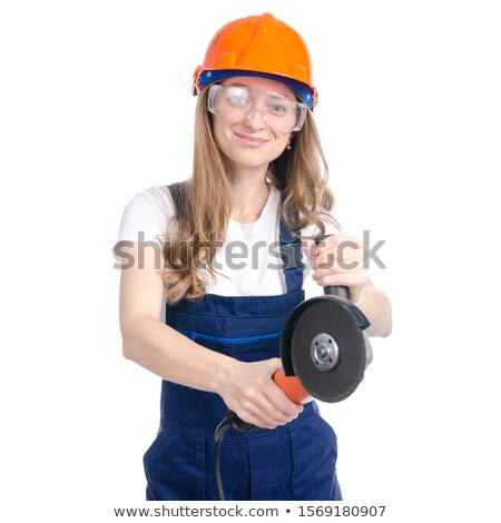 Portrait of a tradesman holding a sander Stock photo © photography33