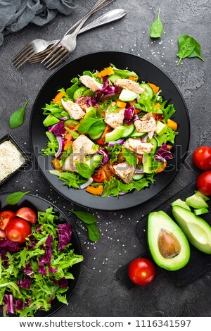 Stock photo: fish with vegetables and olives
