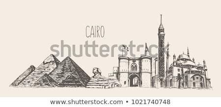 Cairo barrio antiguo Egipto vista ciudad urbanas Foto stock © travelphotography