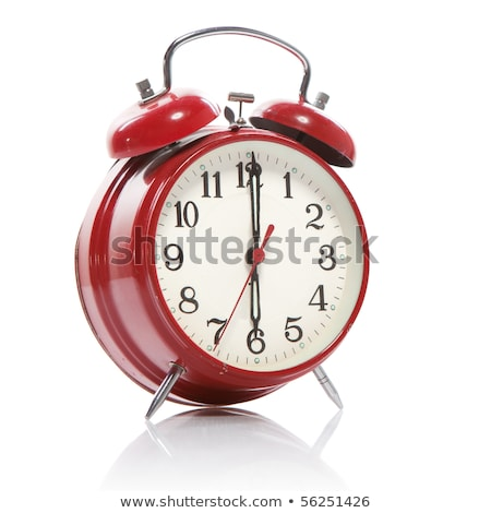 red old style alarm clock isolated on white stock photo © tashatuvango