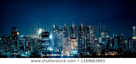 bangkok skyline by night Stock photo © travelphotography