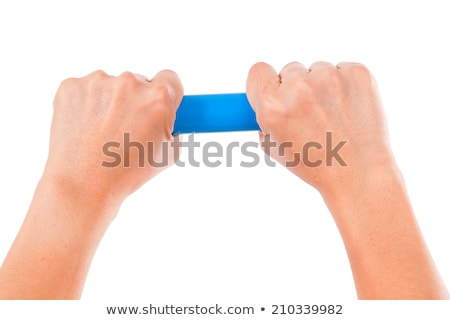 plumber holding pipe and bending tool stock photo © photography33