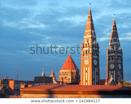 húngaro · católico · relógio · rocha · pedra - foto stock © jakatics