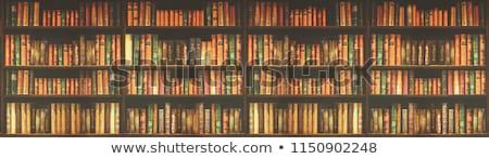 Oude vuile boeken boekenplank school Stockfoto © dashapetrenko