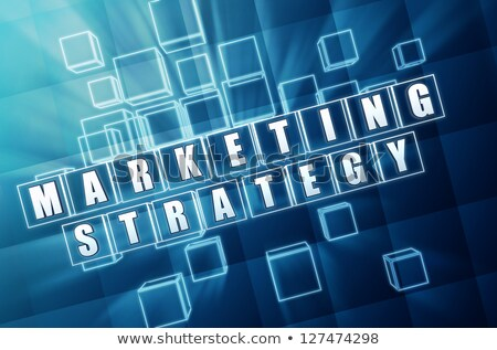 marketing strategy in blue glass cubes Stock photo © marinini