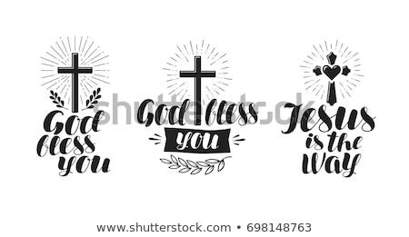 Christian cross, vector illustration Stock photo © carodi