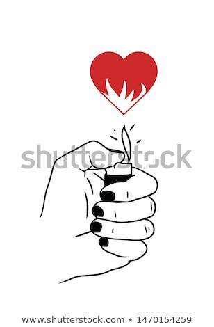 Ardente amor romântico data calendário Foto stock © Lightsource