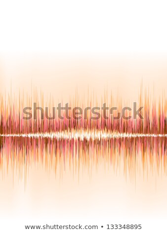 orange sound wave on white eps8 stock photo © beholdereye
