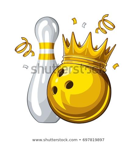 Boliche rei campeão símbolo dourado coroa Foto stock © Lightsource