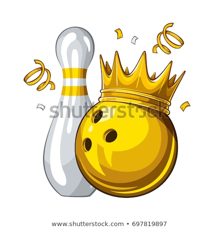 Bowling König Champion Symbol golden Krone Stock foto © Lightsource