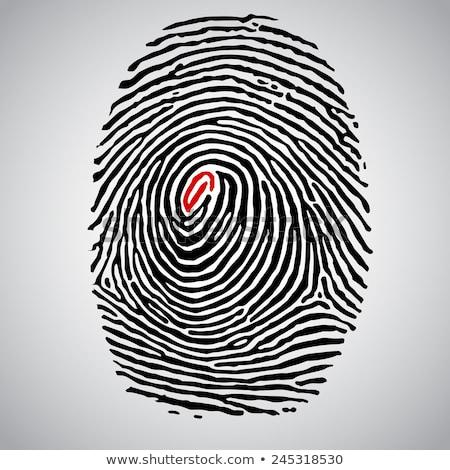 Red fingerprints in line Stock photo © wavebreak_media
