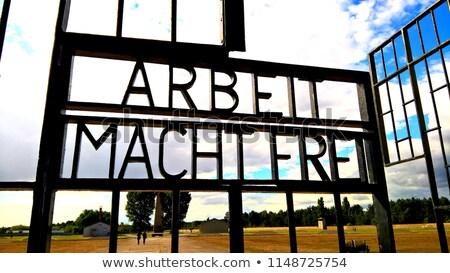 Entrance to Sachsenhausen Stock photo © elxeneize