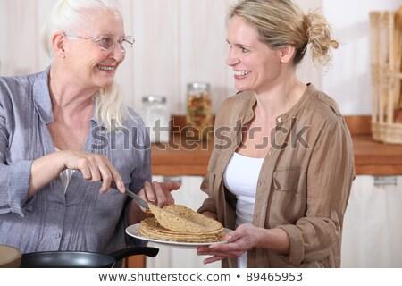 肖像 祖母 提供すること 笑顔 幸せ 眼鏡 ストックフォト © photography33