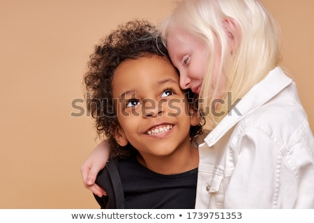 kleine · groep · gelukkig · kinderen · outdoor · meisje · glimlach - stockfoto © vlad_star