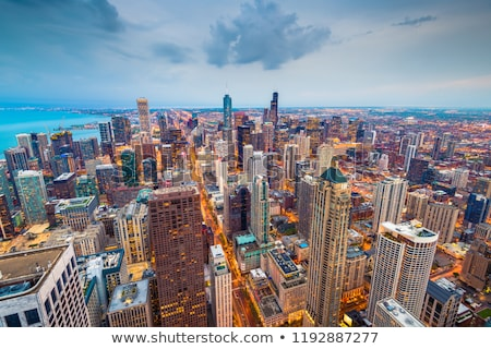 Downtown Chicago, IL in the night Stock photo © AndreyKr