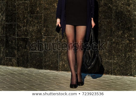 Brunette black tights Stock photo © photography33