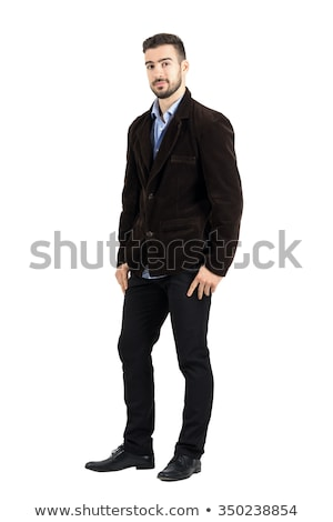 serious casual man with thumbs in pockets stock photo © feedough