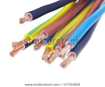 ótico · elétrico · cabo · estrada · escavação - foto stock © ra2studio