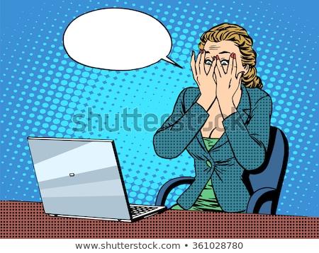 Malas noticias mujer de negocios mujer de negocios blanco aislado noticias Foto stock © zdenkam