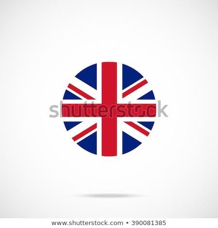 スタンプ · 地図 · フラグ · イギリス · グランジ · 白 - ストックフォト © perysty