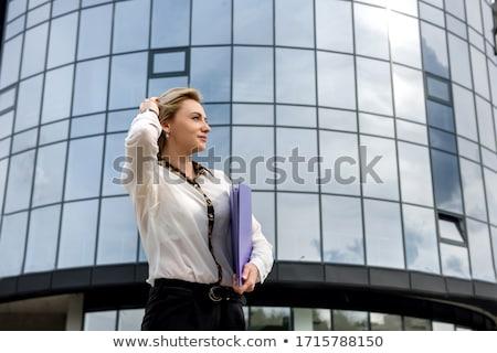mulher · jovem · mulher · de · negócios · grande - foto stock © jayfish