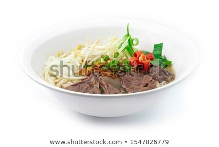 Koken rundvlees pot ruw vlees specerijen Stockfoto © MKucova