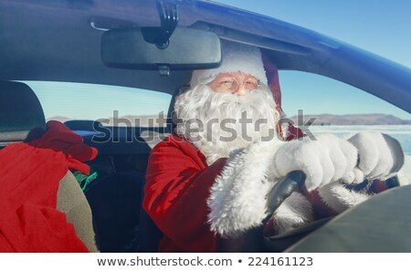 Santa Claus standing outdoors at north pole Stock photo © HASLOO