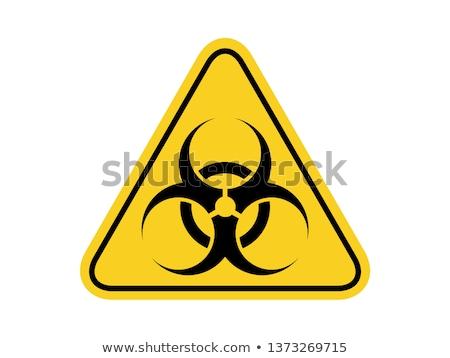 дизайна bio опасность Этикетки бизнеса Сток-фото © vipervxw