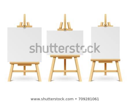 Művész festőállvány keret izolált fehér kéz Stock fotó © oly5