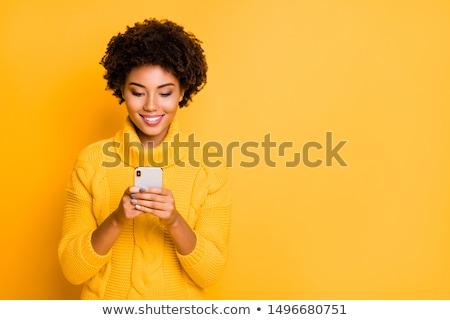 Brunette beauty browsing. Stock photo © lithian