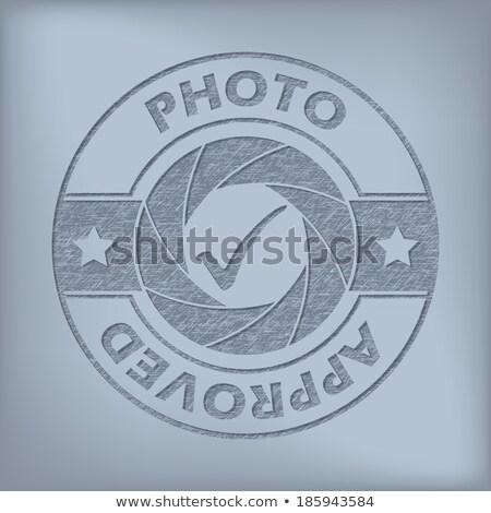 Qualità foto approvato sigillo design grunge Foto d'archivio © vipervxw