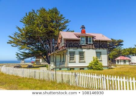 Foto stock: Casa · punto · faro · histórico · casa · edificio