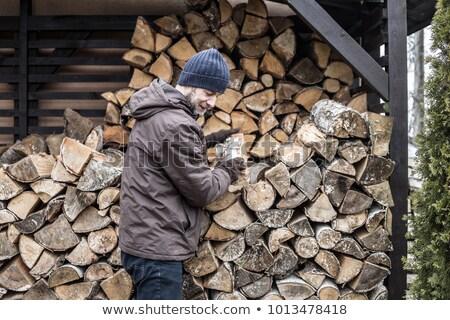 oude · timmerhout · twee · hout - stockfoto © cherezoff