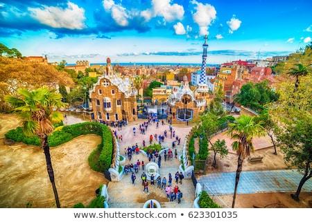 Barcelona · panorámakép · kilátás · város · mediterrán · tenger - stock fotó © nejron