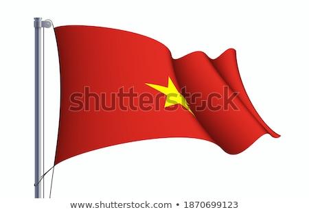 Socialist Republic of Vietnam 3d flag. Stock photo © boroda