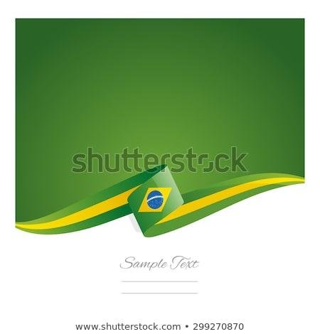 флаг · Бразилия · карта · футбола · фон · знак - Сток-фото © bharat