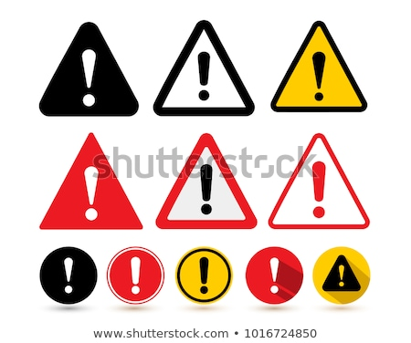 attention sign icon exclamation mark hazard warning symbol modern ui website button stock photo © fotoscool